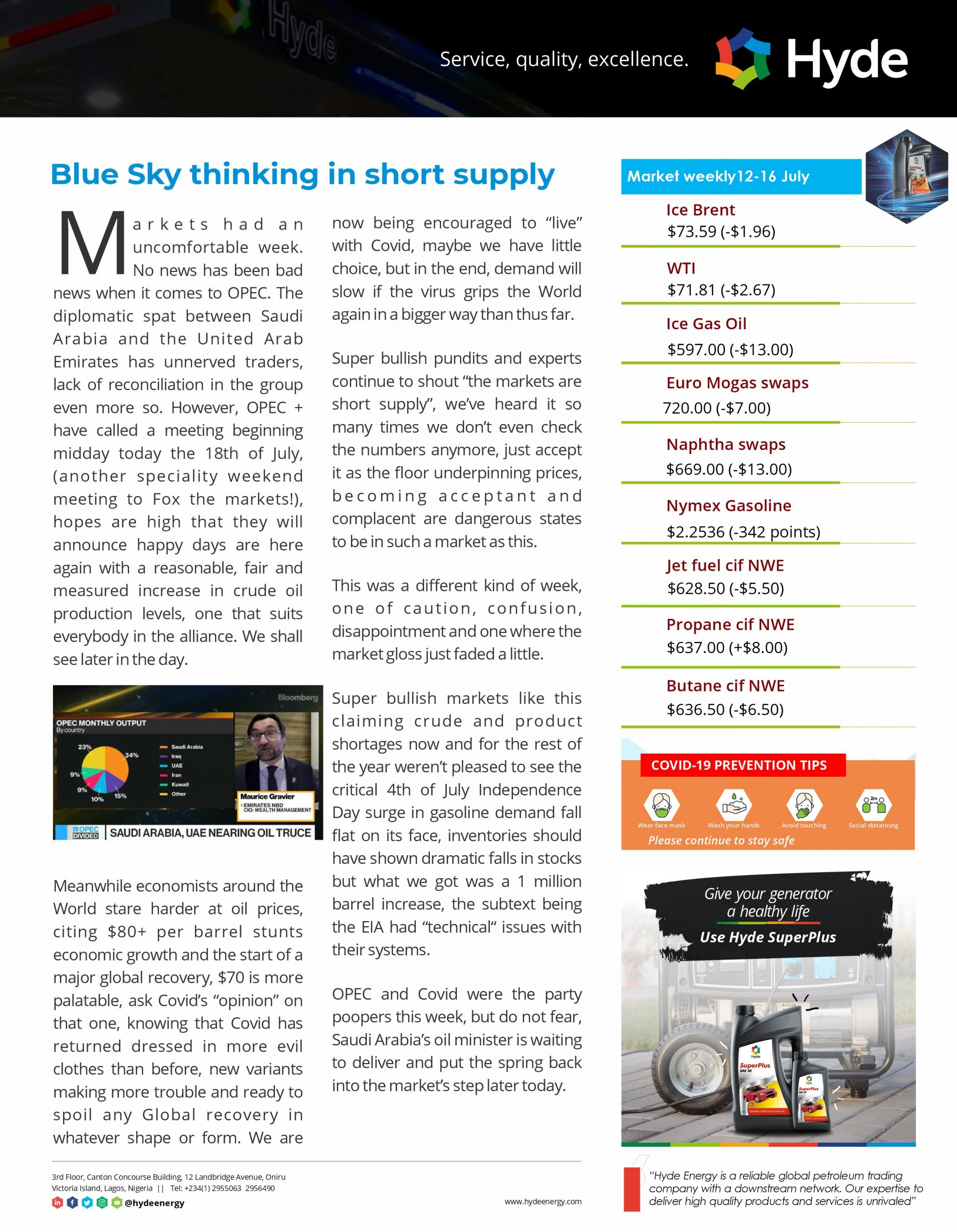 Hyde oil and gas trading newsletter